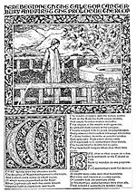 Detailjer från Morris's The Works of  Geoffrey Chaucer.